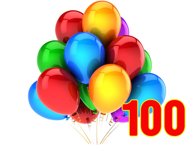 100 Metallic Balloons Pack