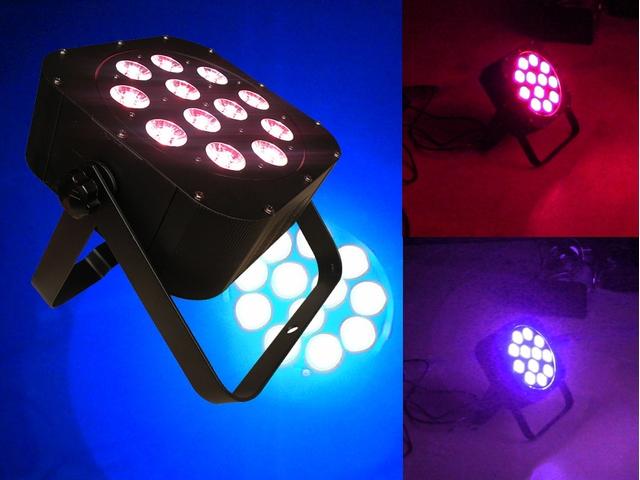 12 x 10W FLAT RGBWUV LED