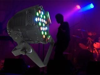 24 pcs of 5W RGB LED in a pro par case with double yoke