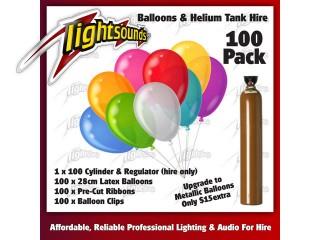 100 Balloons & Helium Tank
