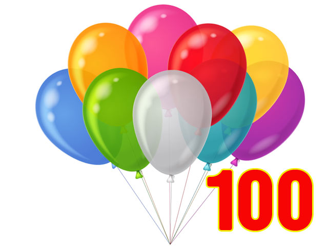 100 Balloons Pack
