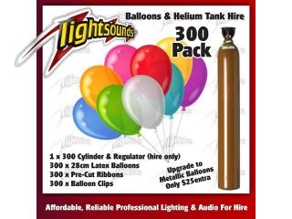 300 Balloons & Helium Tank