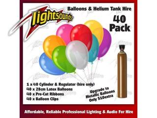 40 Balloons & Helium Tank