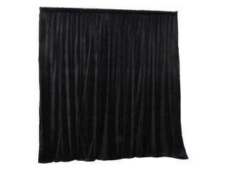 Curtain Call 3.1m x 3m Black Stage Drape - Velvet