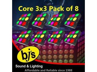 Chauvet Core 3x3 LED RGB Wash Light - Pack of 8