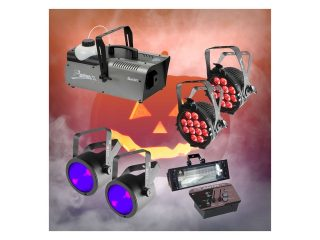 Halloween Large Smoke, Wash, UV & Strobe Pack