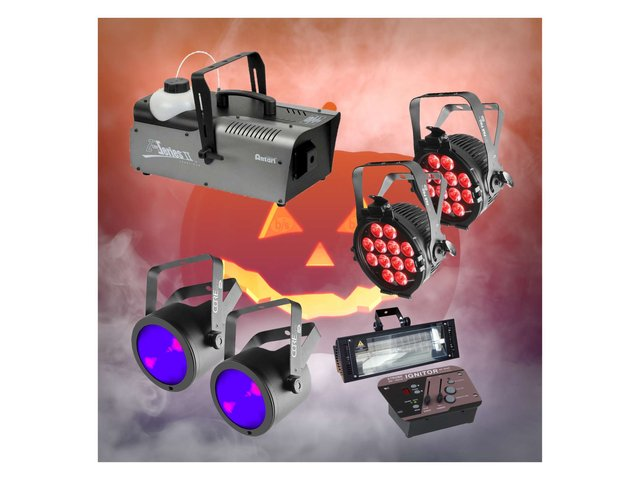 Halloween Large Smoke, Wash, UV & Strobe Pack