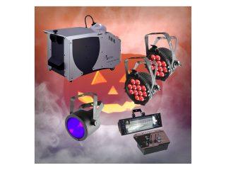 Halloween Low Lying Smoke, Wash, UV & Strobe Pack
