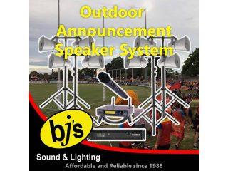 Outdoor Announcement Speaker System