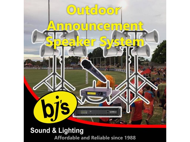 Outdoor Announcement Speaker System