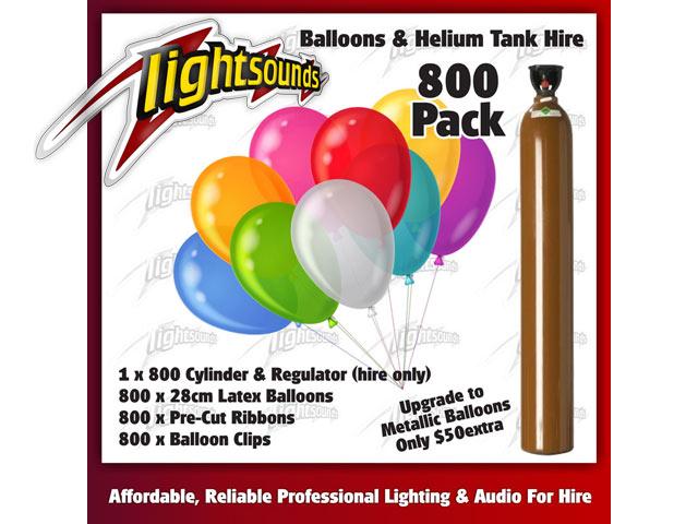 800 Balloons & Helium Tank