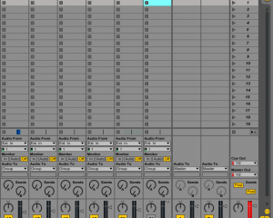 An example of digital clipping in Ableton