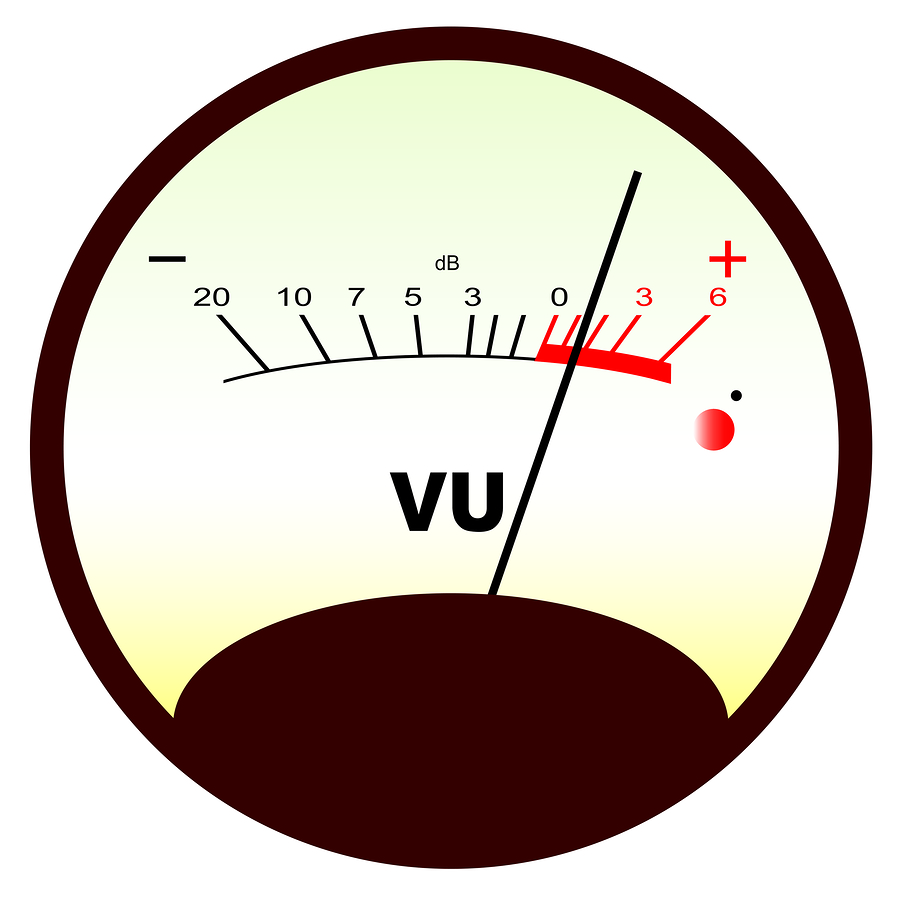 Round Vu Meter 3 A Typical Analogue Audio As Found On Old Tape Recorders With The Needle In