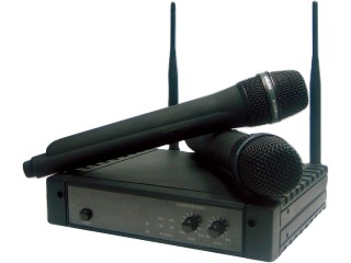 ESP Dual Radio Mic Receiver with Handhelds