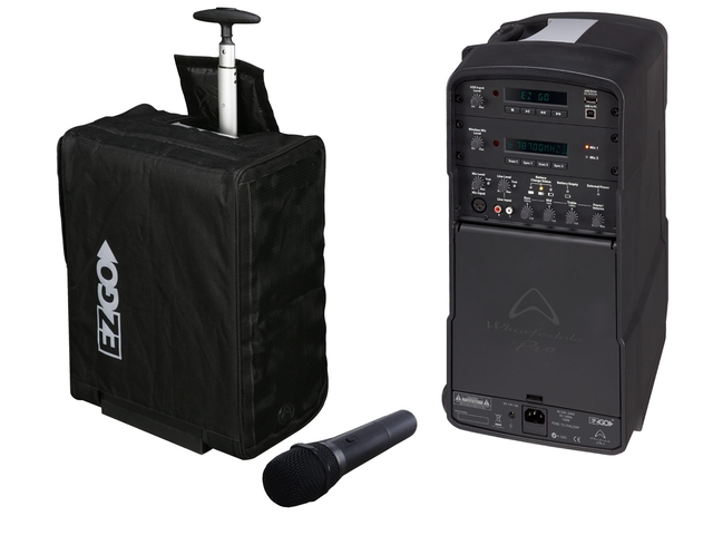 EZGO portable PA with wireless mic