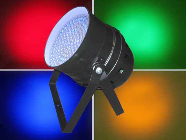 Par 64 (black) LED RGB DMX with Piggy Back Plug
