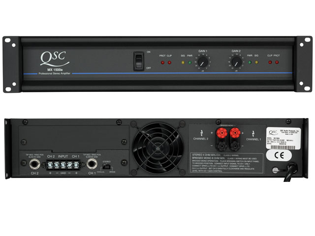QSC MX1500a Power Amp 500w @ 4Ohms per ch