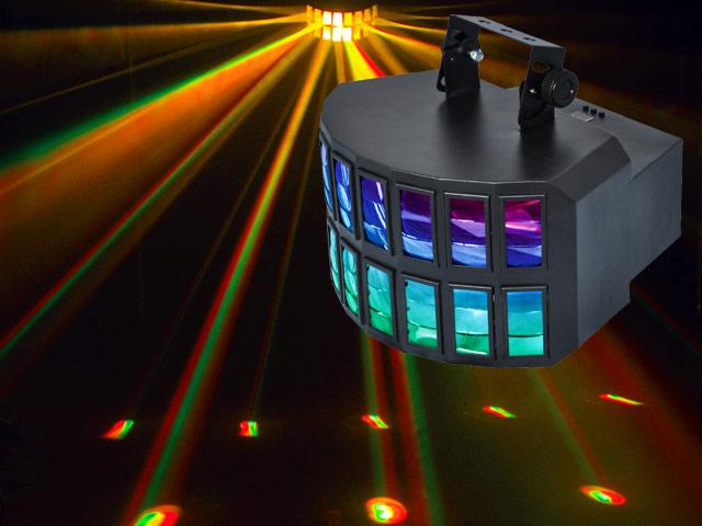 RAZORTRI 2 x 8W RGBW/A LEDs